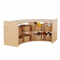 Rookie Large Curve Open Shelving Unit